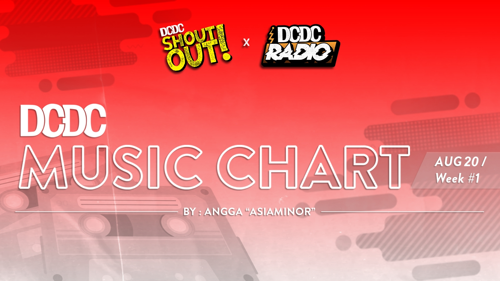 DCDC Music Chart - #1st Week of August 2020