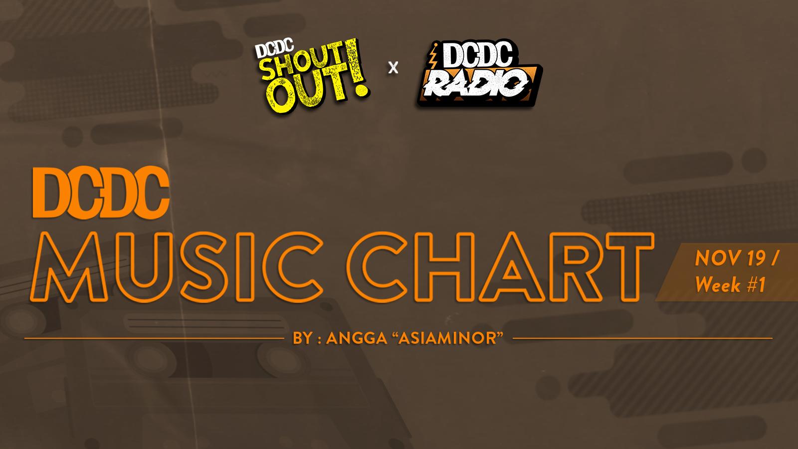 DCDC Music Chart - #1st Week of November 2019