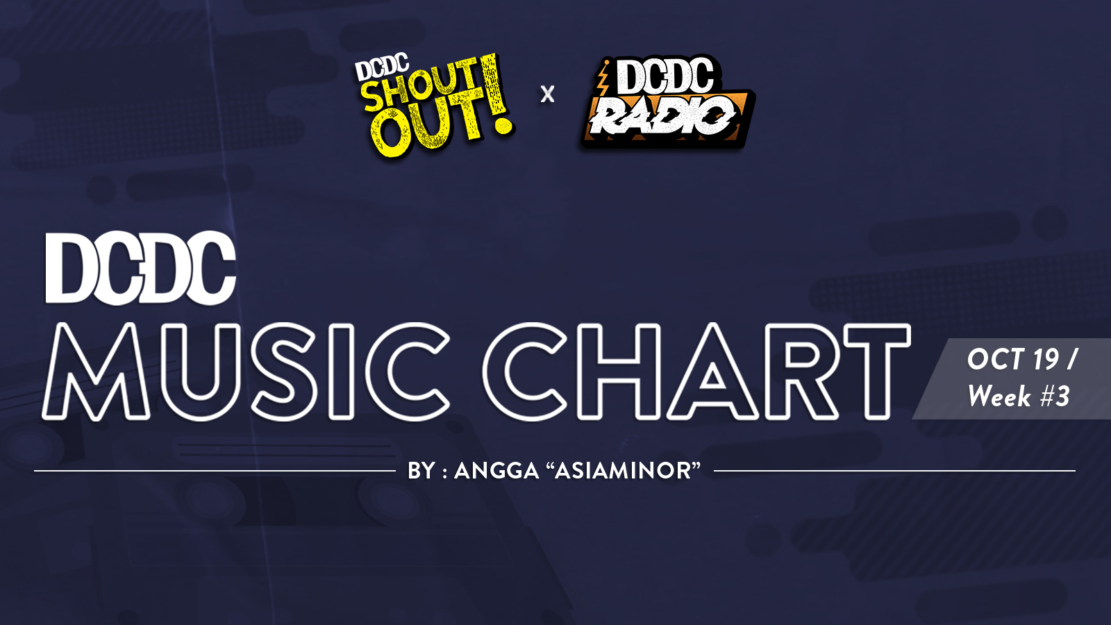 DCDC Music Chart - #3rd Week of October  2019
