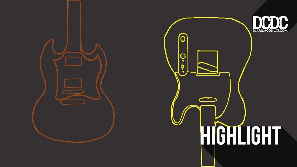 dua kubu gitar gibson sg da artikel musik indie