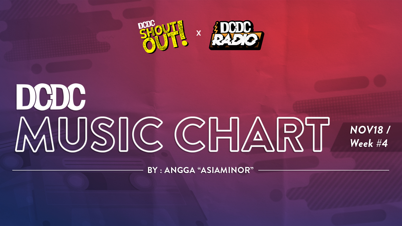 DCDC Music Chart - #4th Week of November 2018